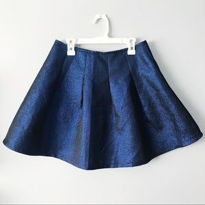 Electric Blue Circle Skirt